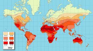 Dünya radyasyon haritası