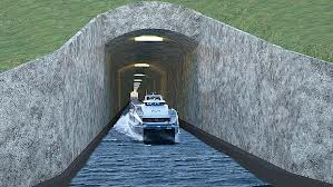 Dünyanın ilk gemi tüneli