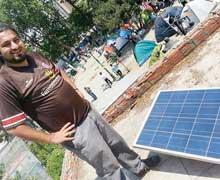 Gezi Park'ında ilginç şarj yöntemi