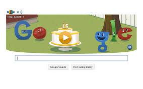 Google Doodle 15.Yılını Kutluyor