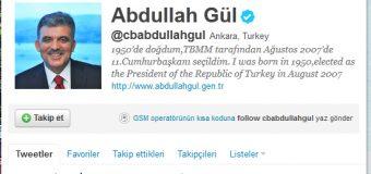 Abdullah Gül'den Twitter tepkisi!