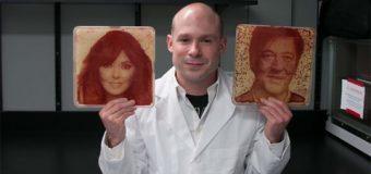 Bakterilerle canlı portre yaptı