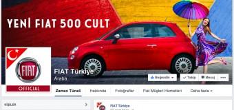 Fiat Türkiye'nin Facebook Sayfası 1 Milyon Takipçiye Ulaştı