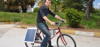 Güneş enerjisiyle çalışan bisiklet