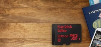 SanDisk 200 GB'lik MicroSD piyasada
