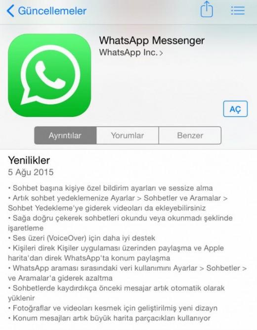 whatsapp-ozellikler