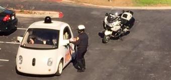 Sürücüsüz arabaya Polis çevirmesi!