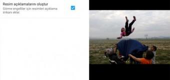 Twitter'da görme engellilere resim anlatım seçeneği