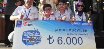 Gazi Ortaokulunun Çocuk Mucitleri Türkiye 1.si Oldu