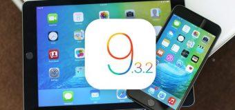 Apple iOS 9.3.2 güncellemesini yayınlandı