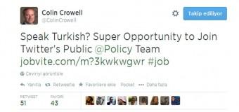 Twitter Türkçe bilen çalışan arıyor