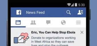 Facebook'a 'Ebola' butonu geldi