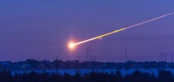 Romanya'ya meteor düştü, işte o anlar