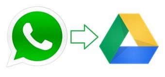 WhatsApp, dosyalarınızı Google Drive'da saklayın