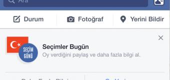 Facebook'tan seçimlere özel 'Oy Veriyorum' butonu