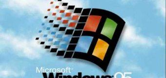 Windows 95 işletim sistemi geri döndü!